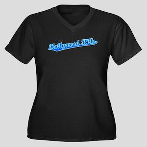 Retro Hollywood Hi.. (Blue) Women's Plus Size V-Ne