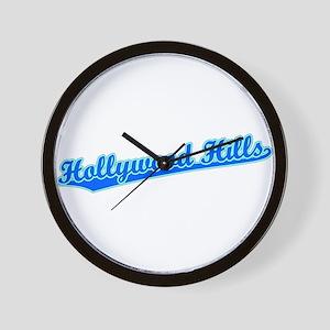 Retro Hollywood Hi.. (Blue) Wall Clock
