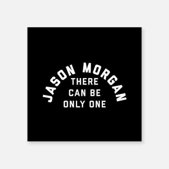 "General Hospital Jason Morg Square Sticker 3"" x 3"""