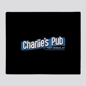 General Hospital Charlie's Pub Throw Blanket