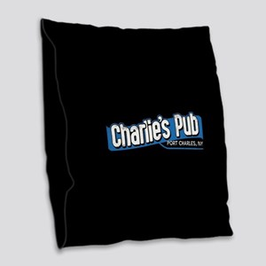 General Hospital Charlie's Pub Burlap Throw Pillow