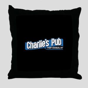 General Hospital Charlie's Pub Throw Pillow