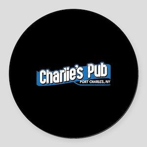 General Hospital Charlie's Pub Round Car Magnet