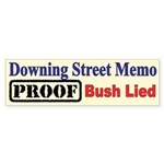 Proof Bush Lied Bumper Sticker