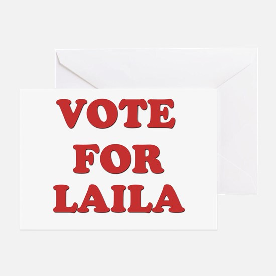 Vote for LAILA Greeting Card