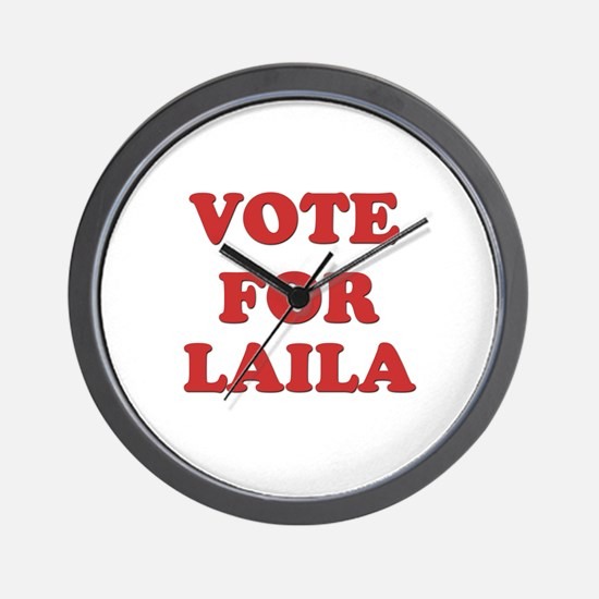 Vote for LAILA Wall Clock
