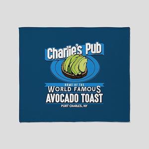 General Hospital Charlie's Pub Avoca Throw Blanket