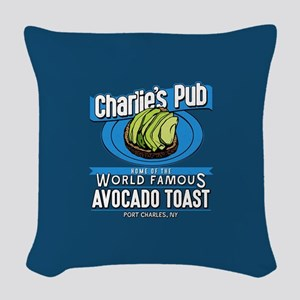 General Hospital Charlie's Pub Woven Throw Pillow