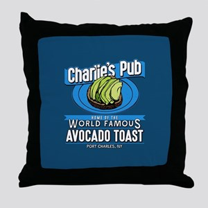 General Hospital Charlie's Pub Avocad Throw Pillow