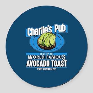 General Hospital Charlie's Pub Av Round Car Magnet