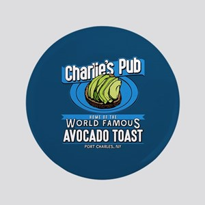 "General Hospital Charlie's Pub Avocado 3.5"" Button"