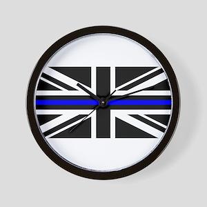 Thin Blue Line -- UK Police Flag - Blue Wall Clock