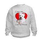 Love My Westie Kids Sweatshirt