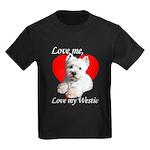 Love My Westie Kids Dark T-Shirt