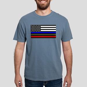 Thin Blue Line Decal - USA Flag Red, Blue T-Shirt