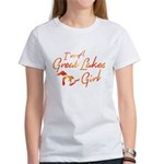 I'm A Great Lakes Girl, Orange Gradient, T-Shi