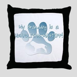Neapolitan Mastiff Granddog Throw Pillow
