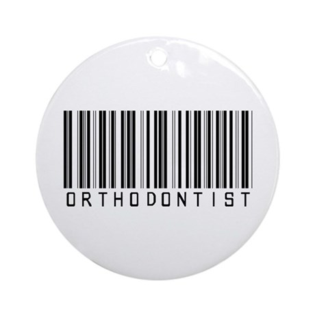 Orthodontist Barcode Ornament (Round)