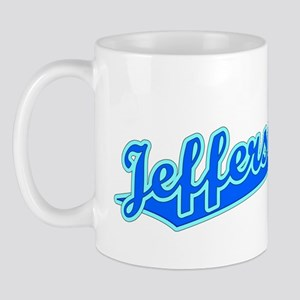 Retro Jefferson City (Blue) Mug