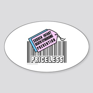 SUDDEN INFANT DEATH SYNDROME Oval Sticker