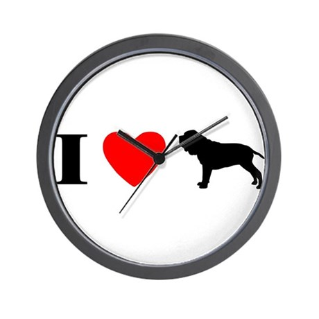 I Heart Neapolitan Mastiff Wall Clock