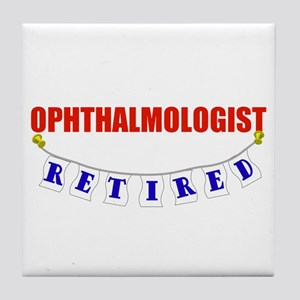 Retired Ophthalmologist Tile Coaster