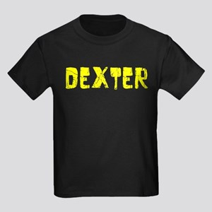 Dexter Faded (Gold) Kids Dark T-Shirt