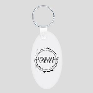 Riverdale Addict Stamp Aluminum Oval Keychain