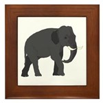 Walking Elephant Framed Tile