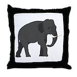 Walking Elephant Throw Pillow