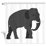 Walking Elephant Shower Curtain