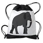 Walking Elephant Drawstring Bag
