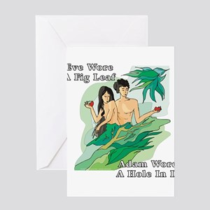 Adam and Eve Greeting Cards