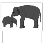 Mom and baby elephants Yard Sign