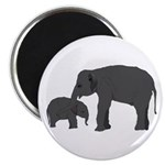 Mom and baby elephants Magnets