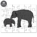Mom and baby elephants Puzzle