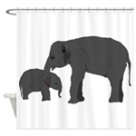Mom and baby elephants Shower Curtain