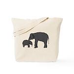 Mom and baby elephants Tote Bag
