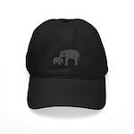 Mom and baby elephants Baseball Hat