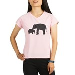 Mom and baby elephants Performance Dry T-Shirt