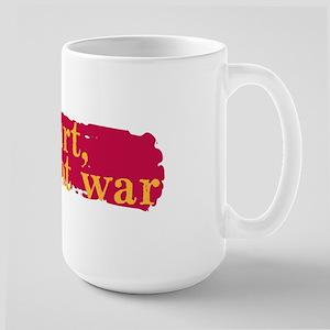 Make Art, Not War Large Mug