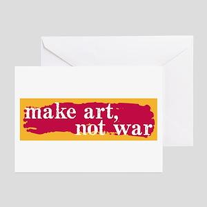 Make Art, Not War Greeting Cards (Pk of 10)