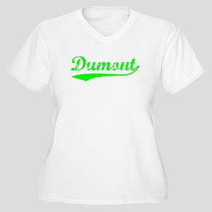Vintage Dumont (Green) Women's Plus Size V-Neck T-