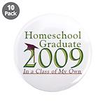 """2009 Homeschool Graduate 3.5"""" Button (10 pack"""