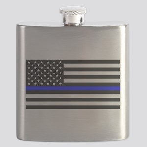 Thin Blue Line - USA United States American Flask