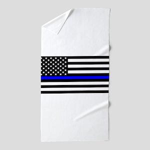 Thin Blue Line - USA United States Ame Beach Towel