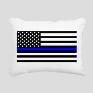Thin Blue Line - USA Uni Rectangular Canvas Pillow