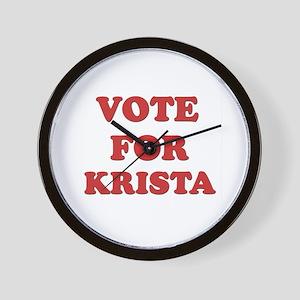 Vote for KRISTA Wall Clock