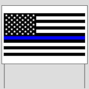 Thin Blue Line - USA United States Ameri Yard Sign