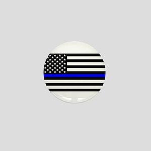 Thin Blue Line - USA United States Ame Mini Button